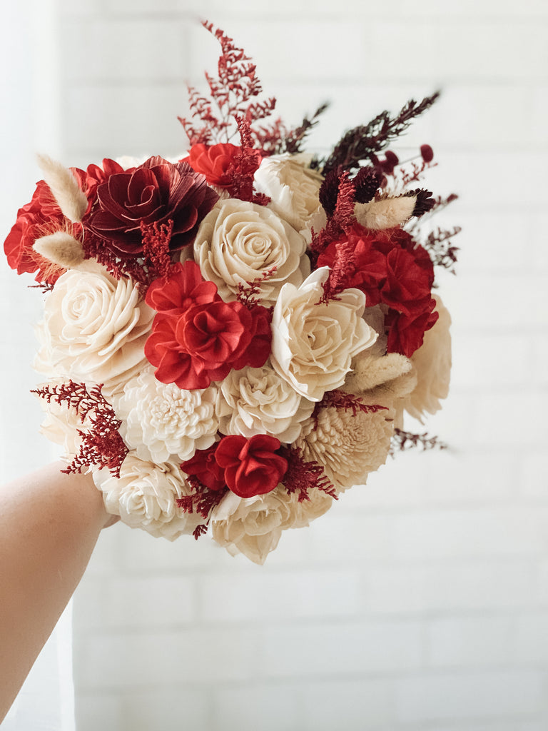 Red Dunes Bouquet - PineandPetalWeddings