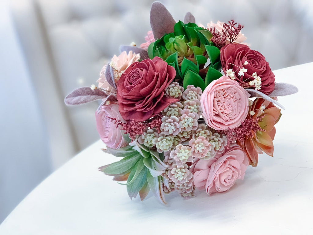 The Secret Garden - Pink - Allure Collection Bouquets Pine and Petal Weddings