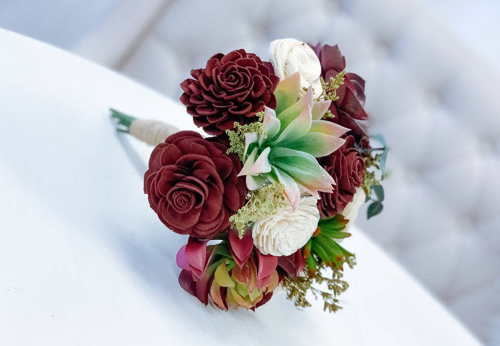 The Secret Garden - Red Burgundy - Allure Collection Bouquets Pine and Petal Weddings