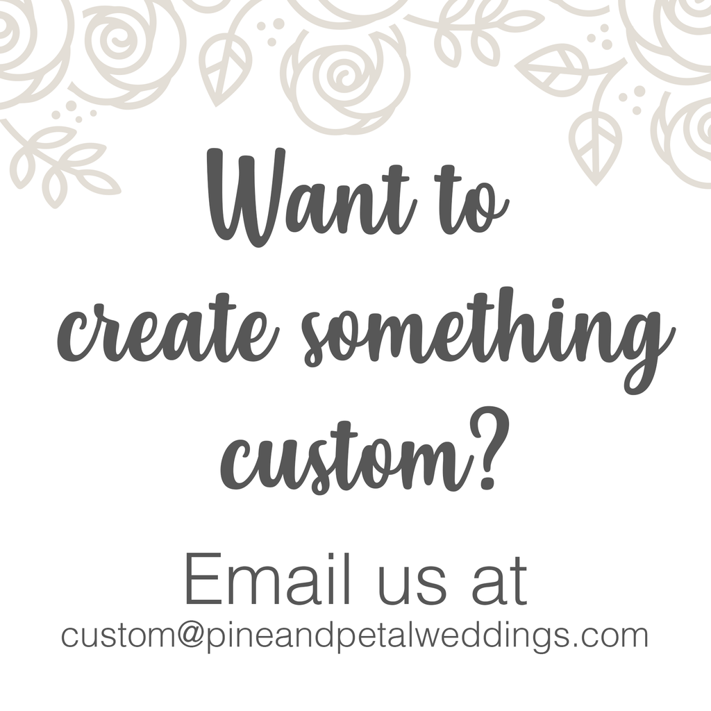 Custom Teardrop Sola Flower Bouquet Bouquets Pine and Petal Weddings