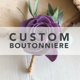 CUSTOM Wedding Boutonnière Custom Orders Pine and Petal Weddings