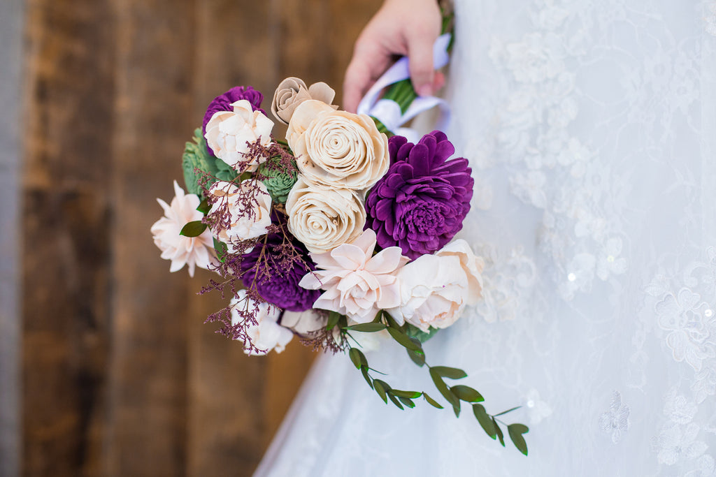 Garden Woodland Bridal Bouquet Bouquets Pine and Petal Weddings