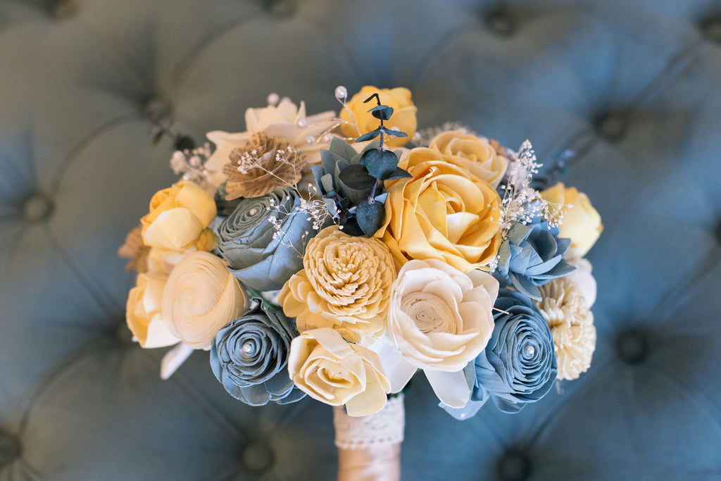 Vintage Bridesmaid Bouquet - PineandPetalWeddings