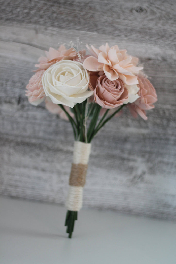 Shabby Chic Bridesmaid Bouquet Bouquets Pine and Petal Weddings