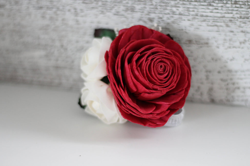 Classic Rose Wrist Corsage Boutonnières & Corsages Pine and Petal Weddings