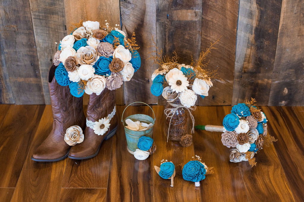 Rustic Flower Boot Cuff Hairpieces & Accessories Pine and Petal Weddings