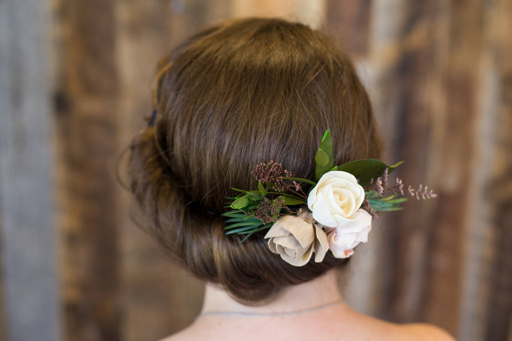 Garden Hair Comb - PineandPetalWeddings