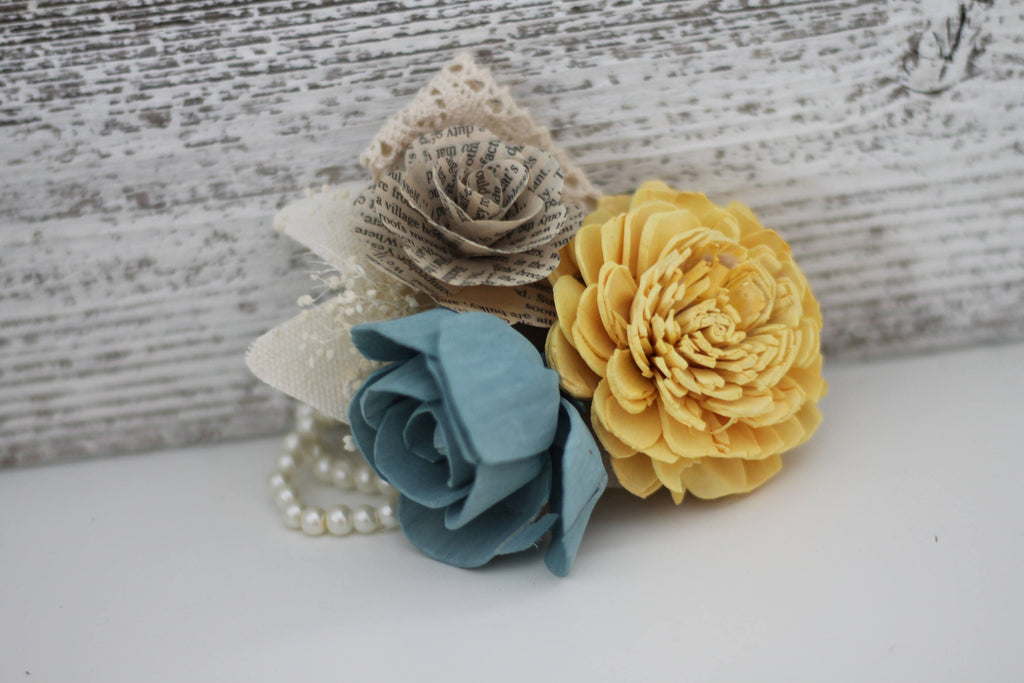 Vintage Wrist Corsage Boutonnières & Corsages Pine and Petal Weddings