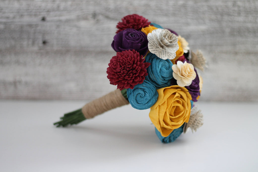 Celebrate Your Story Wooden Flower Bouquet - PineandPetalWeddings