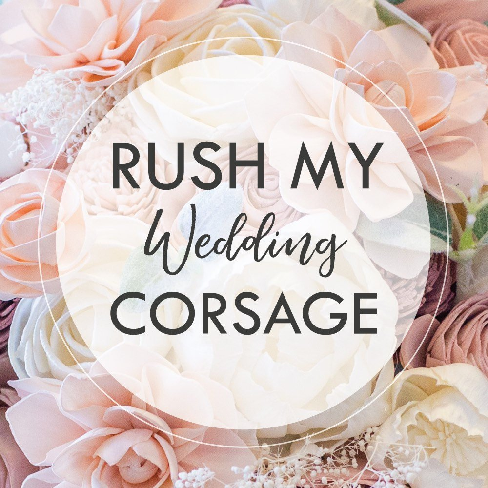RUSH MY CORSAGE - Process my single corsage within 3-5 Business Days Boutonnières & Corsages Pine and Petal Weddings