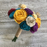 Celebrate Your Story Wooden Flower Bouquet Bouquets Pine and Petal Weddings