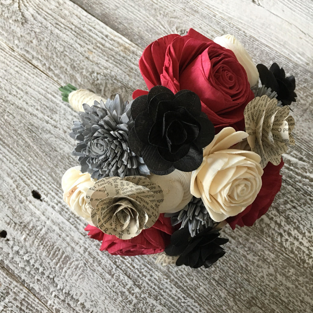 Classy Book Page Flower Bouquet Bouquets Pine and Petal Weddings