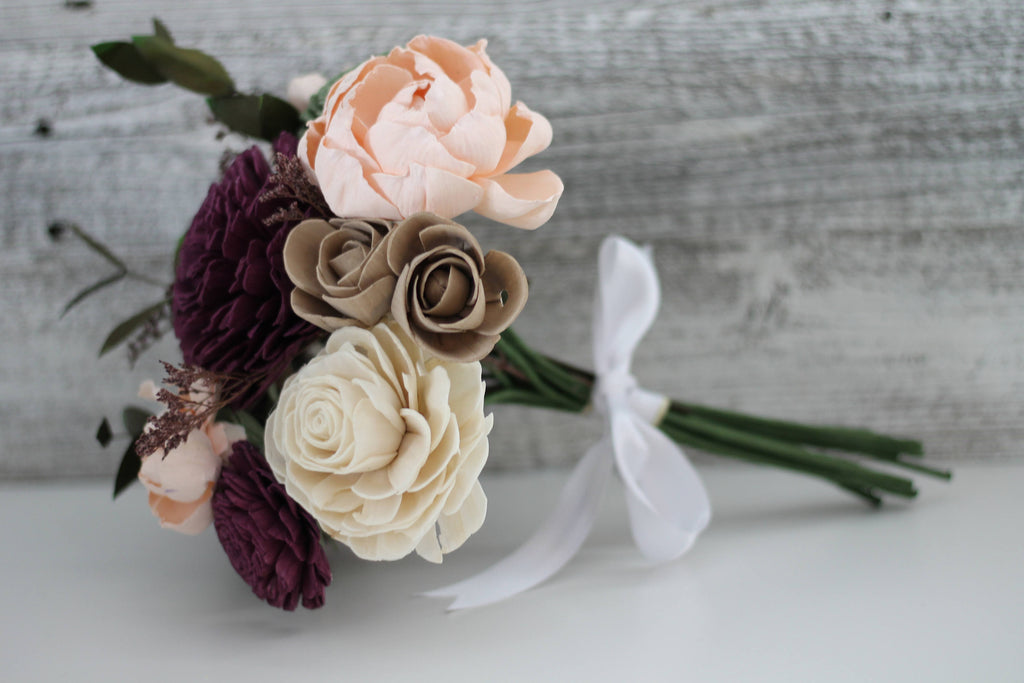 SAMPLE BOX - Garden Woodland Bridesmaid, Boutonnière and Corsage Bouquets Pine and Petal Weddings