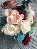 Sweet Winter Wonderland Wood Flower Bouquet Bouquets Pine and Petal Weddings
