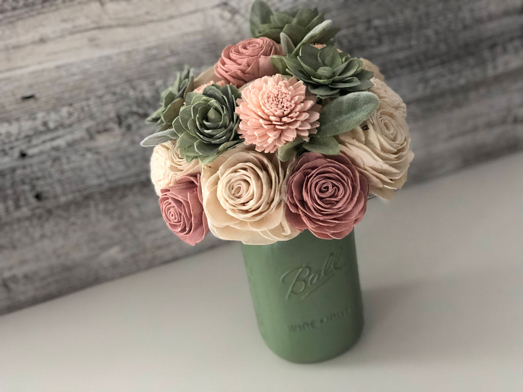 Soft Succulent Bouquet Bouquets Pine and Petal Weddings