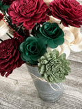 Rustic Christmas Farmhouse Flower Arrangement Fall & Winter Collection Pine and Petal Weddings