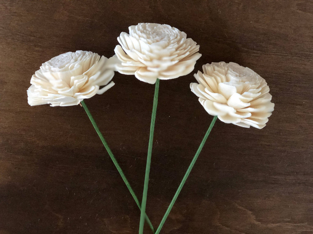 "12 Flower Assortment - Olivia Blossoms 1-3.5"" Loose Flowers & Samples Pine and Petal Weddings"