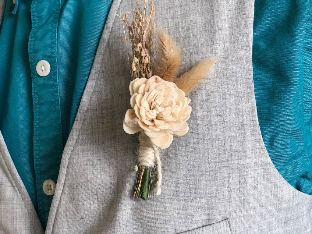 Mermaid Lagoon Boutonnière Boutonnières & Corsages Pine and Petal Weddings