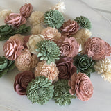12 Loose Flower Assortment - Berry Succulent Loose Flowers Assortment Loose Flowers & Samples Pine and Petal Weddings
