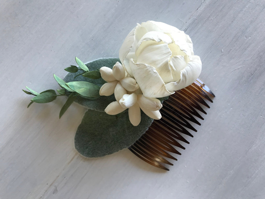 CUSTOM Sola Flower Haircomb Hairpieces & Accessories Pine and Petal Weddings