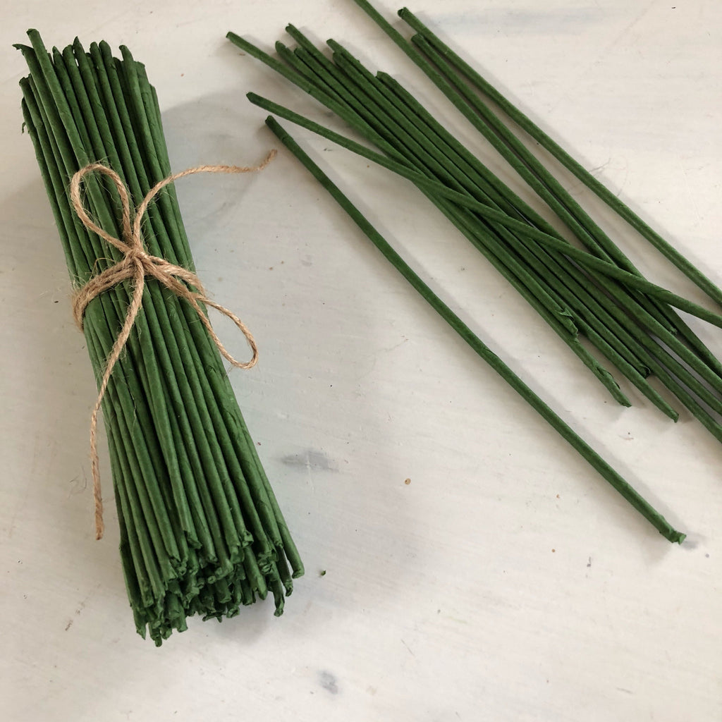 Paper Wrapped Flower Stems Loose Flowers & Samples Pine and Petal Weddings