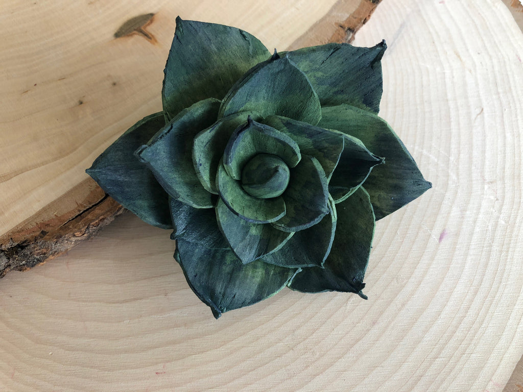 "12 Blue and Green Delicate Wood Succulents - 2"" Loose Flowers & Samples Pine and Petal Weddings"