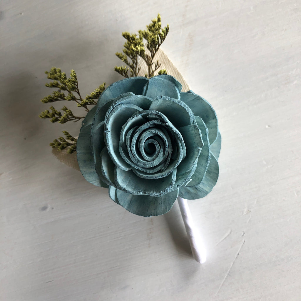 Spring Frost Rose Boutonnière Boutonnières & Corsages Pine and Petal Weddings