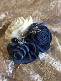 Champagne Twilight Corsage Boutonnières & Corsages Pine and Petal Weddings