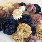 12 Assorted Flowers - Champagne Twilight Loose Flowers & Samples Pine and Petal Weddings
