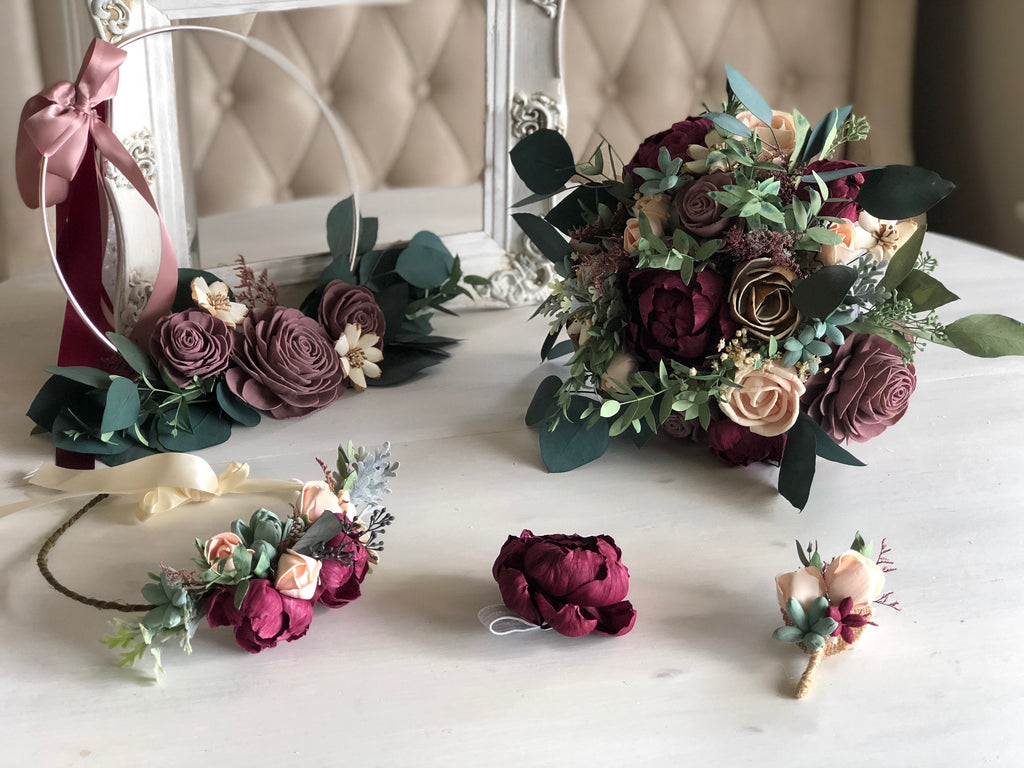Enchanting Peony Wrist Corsage Boutonnières & Corsages Pine and Petal Weddings