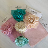 Mermaid Lagoon Wrist Corsage Boutonnières & Corsages Pine and Petal Weddings
