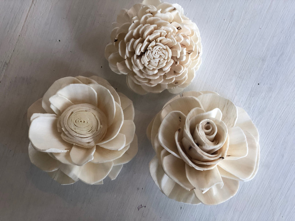 12 Flower SOLA MIX - Grace, Olivia, Dorothy Loose Flowers & Samples Pine and Petal Weddings