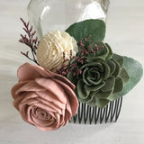 Soft Succulent Haircomb Hairpieces & Accessories Pine and Petal Weddings