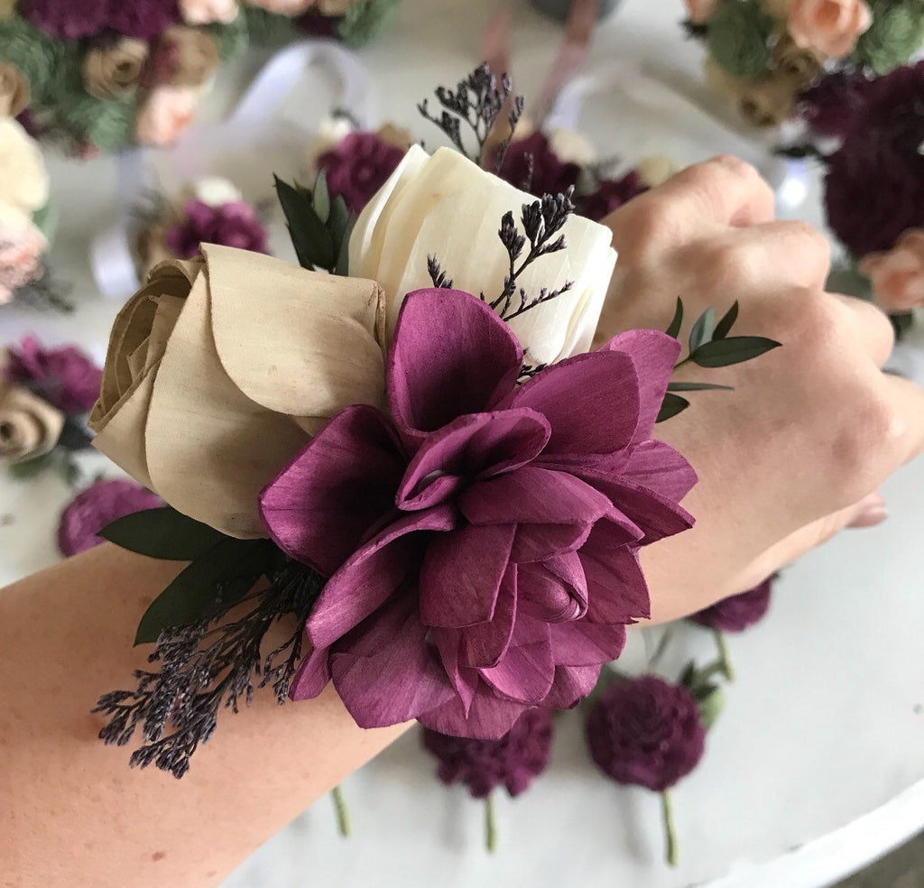 CUSTOM Matching Corsage Boutonnières & Corsages Pine and Petal Weddings
