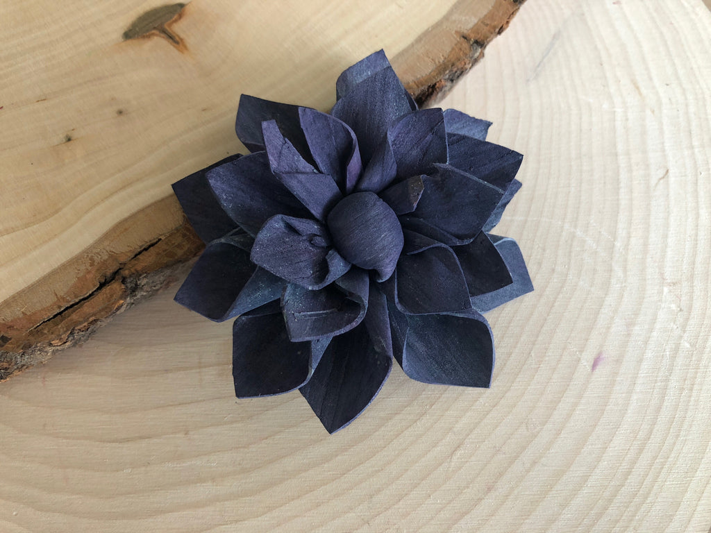 "12 Purple and Blue Delicate Wood Succulents - 2"" Loose Flowers & Samples Pine and Petal Weddings"