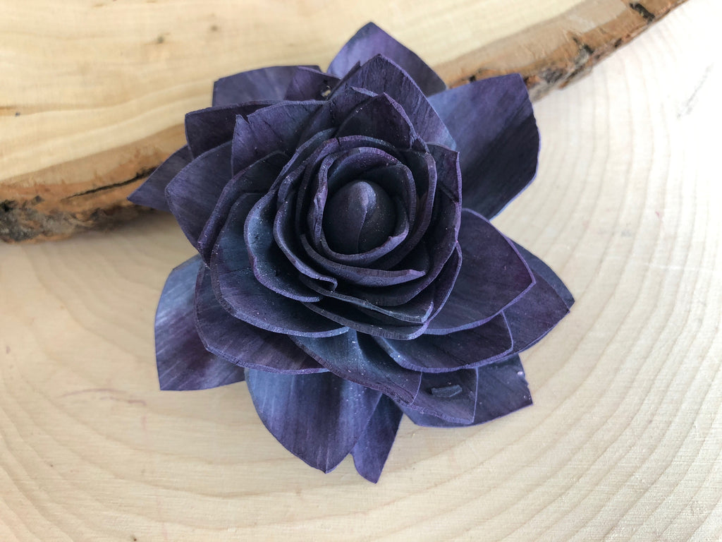 "12 Purple and Blue Delicate Wood Succulents - 2"" - PineandPetalWeddings"