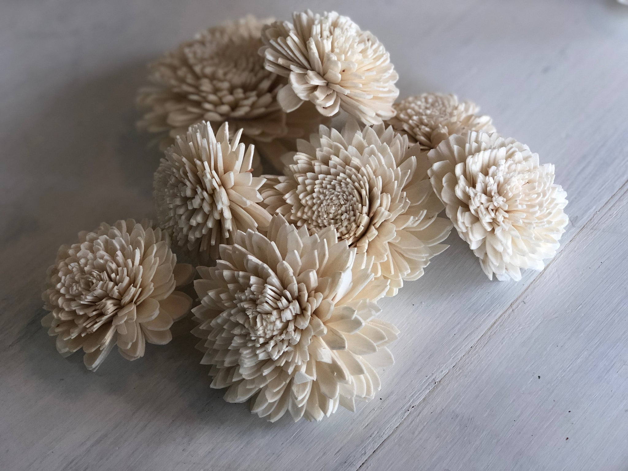 Elane Zinnia Blossom - Small - Wood Sola Flower - Loose Flowers - Wooden Flowers - Wedding Bouquet Flowers - DIY Bride
