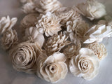 12 Flower SOLA MIX Grace, Olivia, Mia Loose Flowers & Samples Pine and Petal Weddings