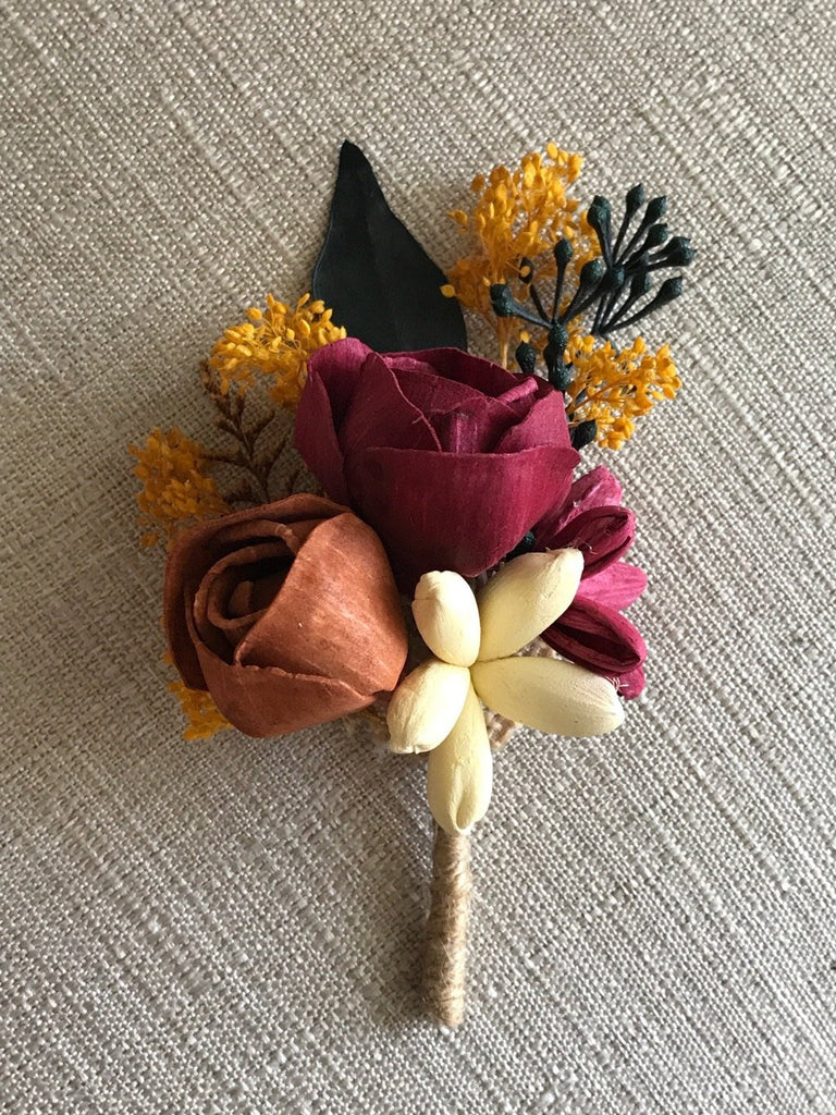 CUSTOM Matching Boutonnière Boutonnières & Corsages Pine and Petal Weddings