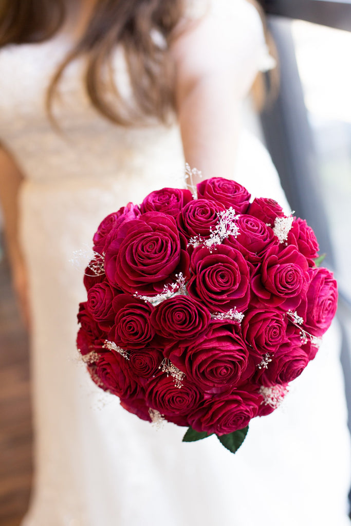 Classic Rose Bridal Bouquet Bouquets Pine and Petal Weddings
