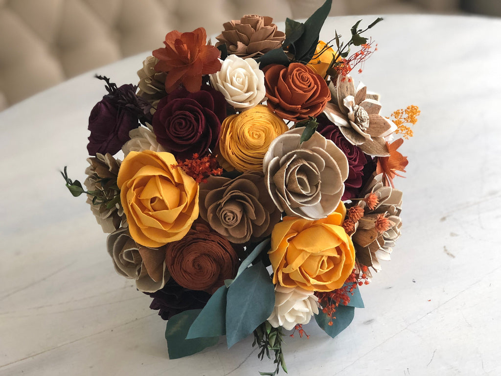 Rustic Fall Flower Bouquet Bouquets Pine and Petal Weddings