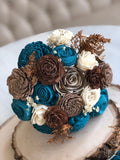 Rustic Wood Flower Bridal Bouquet Bouquets Pine and Petal Weddings
