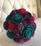 Jaded Jewel Tone Bouquet Bouquets Pine and Petal Weddings
