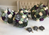 Rich Garden Succulent Bouquet Bouquets Pine and Petal Weddings