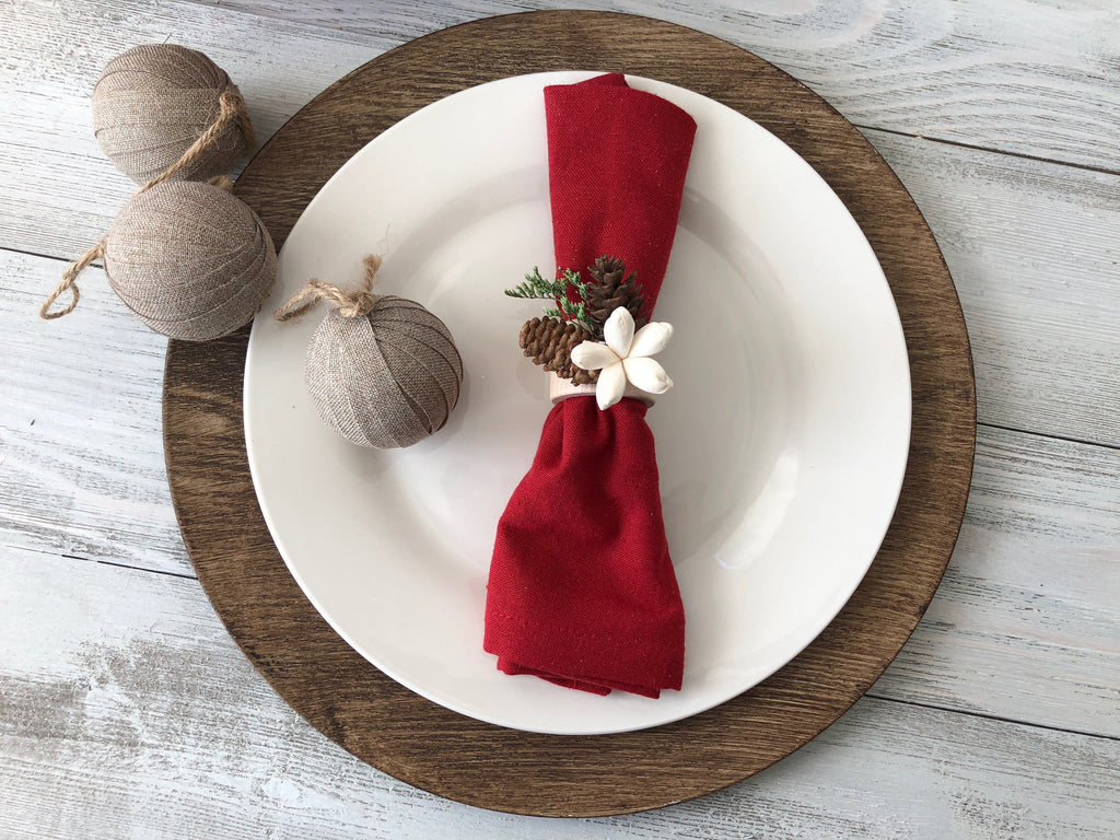 Christmas Napkin Rings Fall & Winter Collection Pine and Petal Weddings
