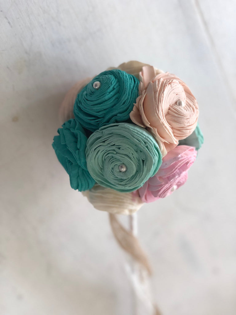 Mermaid Lagoon Flower Girl Wand Flower Girl Options Pine and Petal Weddings