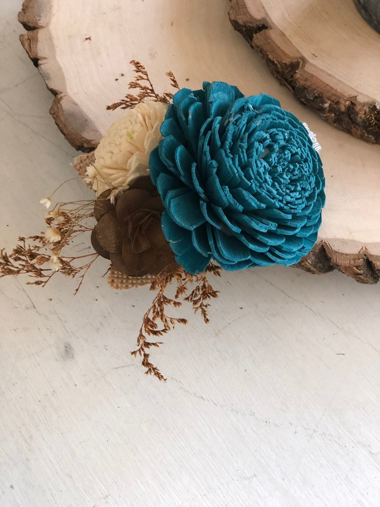 Rustic Charm Wrist Corsage Boutonnières & Corsages Pine and Petal Weddings