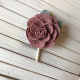 Shabby Chic Rose Boutonnière Boutonnières & Corsages Pine and Petal Weddings