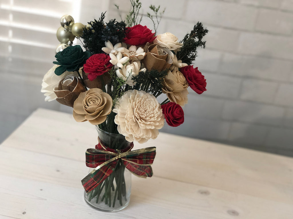 This Christmas Arrangement Fall & Winter Collection Pine and Petal Weddings