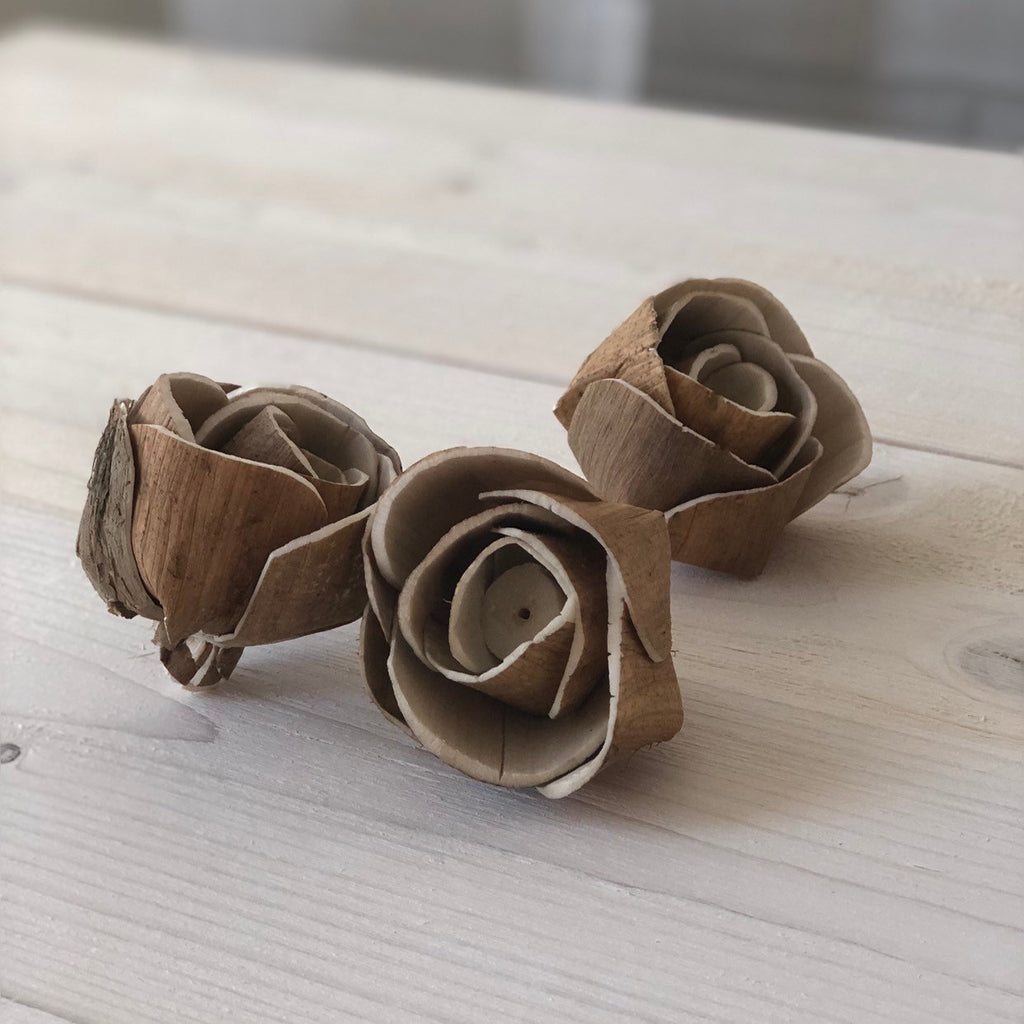 Mara Pine Rose Bud Assortment Loose Flowers & Samples Pine and Petal Weddings